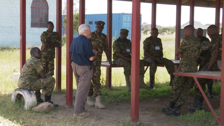 Tony Dedman delivering counter IED training induction in November 2019 in Kenya used on 050320 CREDIT BFBS.jpg
