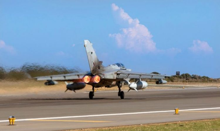 Tornado jet taking off from RAF Akrotiri 021117