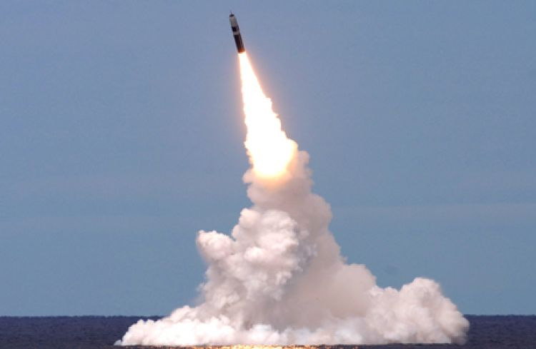 Trident Missile Test Launch