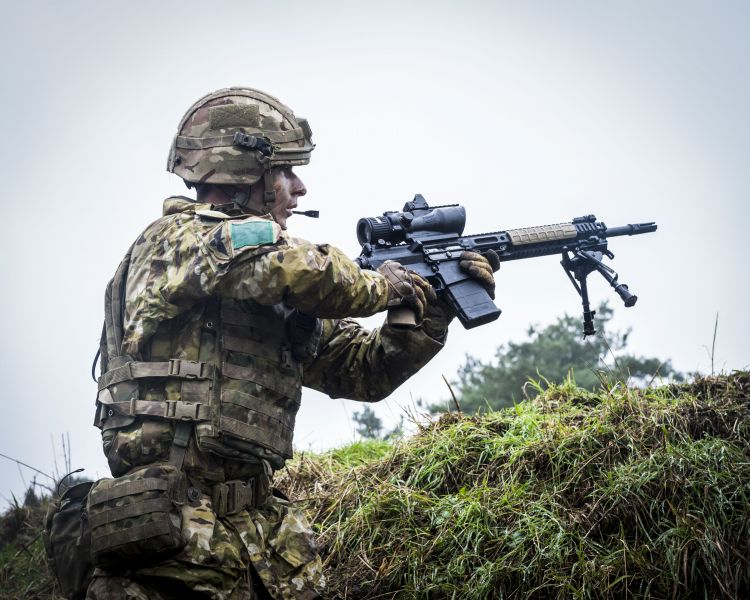 Troops from C Company, 3rd Battalion The Parachute Regiment on live-fire exercise Yellow Assault at STANTA training area in Norfolk