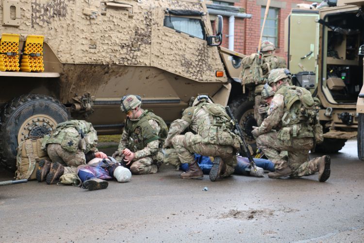 Troops treat civilians during Op Toral 8 060319 CREDIT BFBS