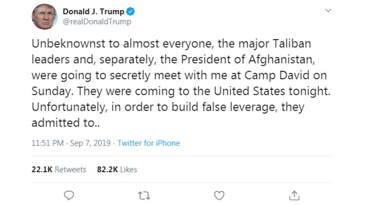 Trump tweet on taliban 090919 credit bfbs via twitter.jpg