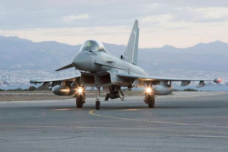 Royal Air Force Typhoon arrives at RAF Akrotiri in support of OP Shader