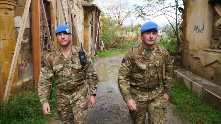 UN peacekeeping troops in Nicosia 040319 CREDIT BFBS