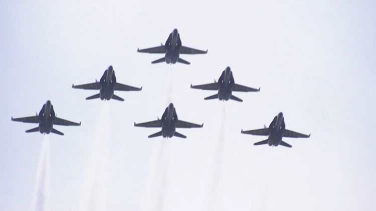 US Independence Day fighter jets 2019 Credit US POOL 050719