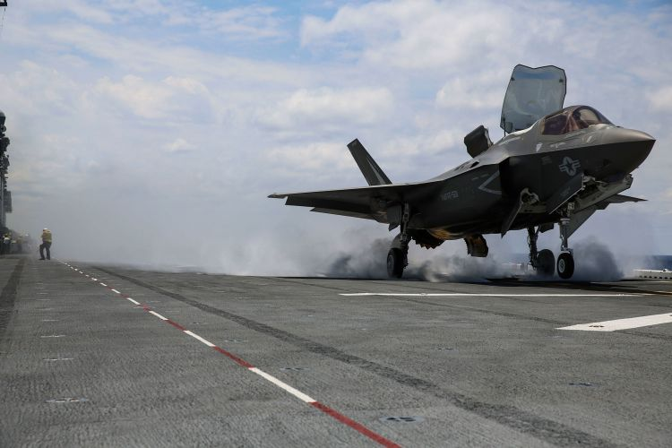 US F-35B lands on USS Wasp