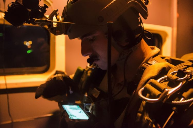 US marine using ATAK software