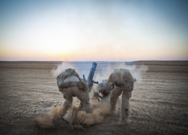 US Marines in Syria in support of Operation Inherent Resolve, the US-led coalition's fight against IS