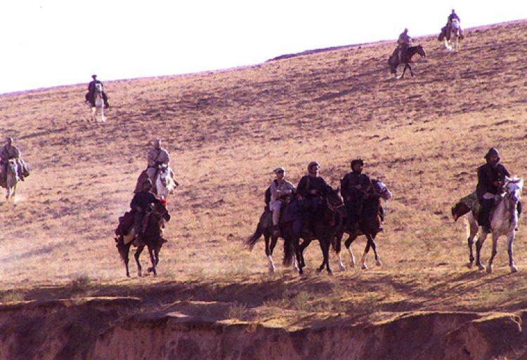 US Special Forces on horseback - Green Berets were some of the first troops into Afghanistan