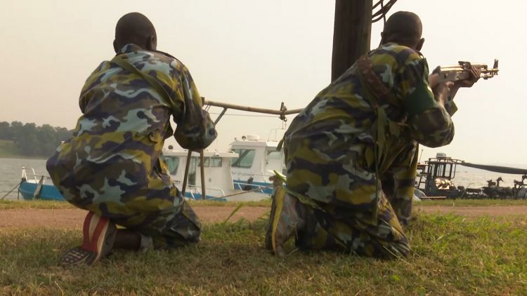 Ugandan troops on training exercise with uk troops 070819 CREDIT BFBS.jpg