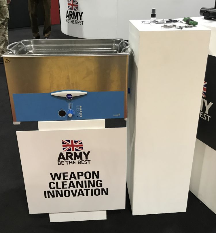The Ultrasonic Cleaning Bath on show at DSEI. Credit: Sgt Dan Birks