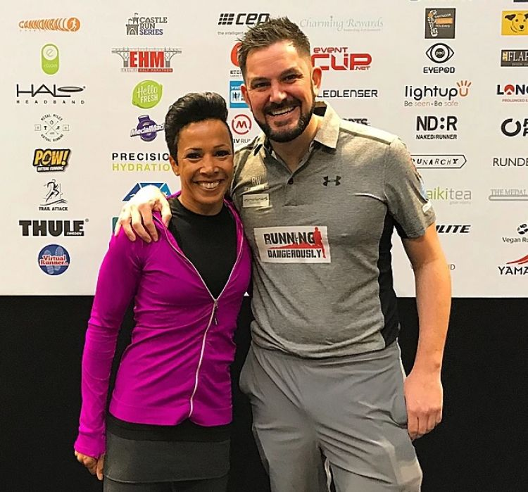 Jordan Wylie and Dame Kelly Holmes