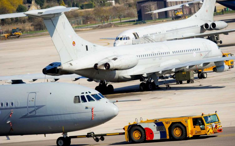 Royal Air Force VC10 aircraft from 101 Squadron at RAF Brize Norton