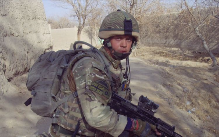 Veteran Josh Boggi in Afghanistan before his injury in 2010 DATE UKNOWN CREDIT HANDOUT/BFBS