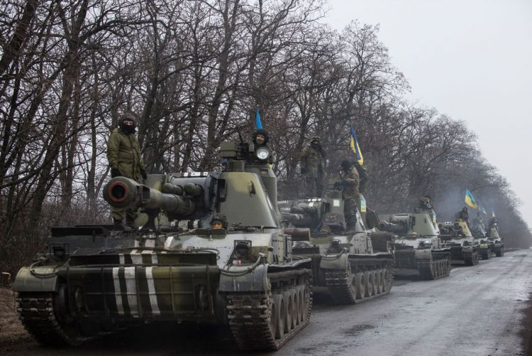 Tanks in eastern Ukraine