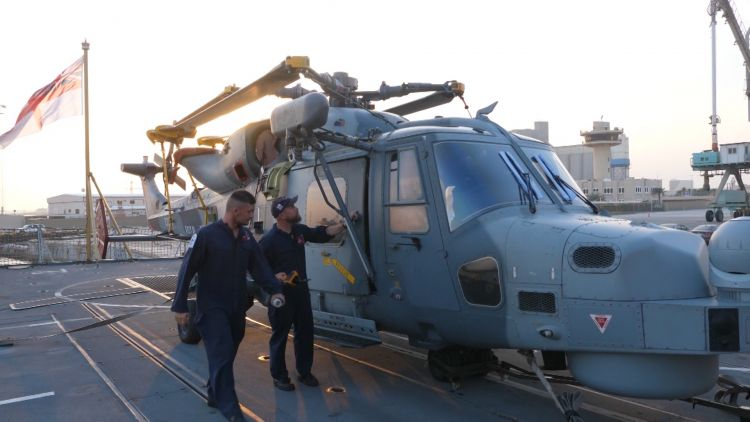 Wildcat on HMS Montrose in Bahrain Credot BFBS 13.11.19.jpg
