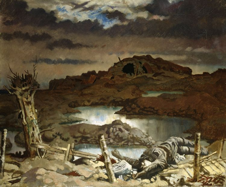 William Orpen's Zonnebeke, another depiction of the battlefield