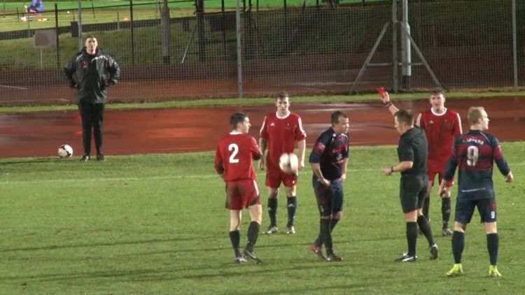 Woolwich Cup final 2017 red card