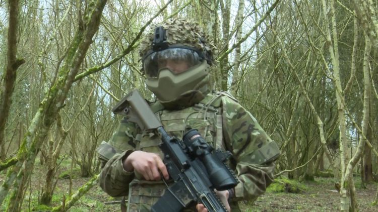 Young boy during field craft 050319 CREDIT BFBS