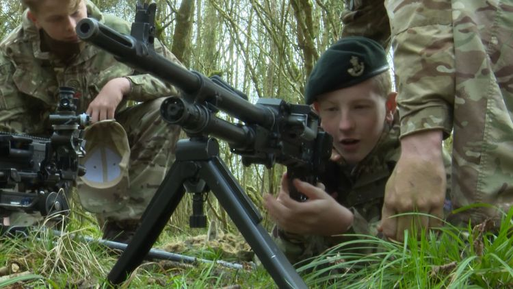 Young people train with 5 Rifles 050319 CREDIT BFBS