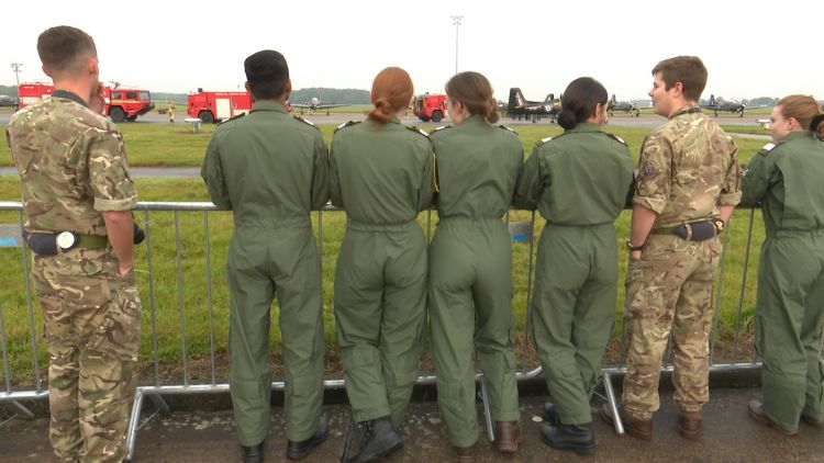 Young pilots attend the Tucano last flight event at RAF Linton-on-Ouse 261019 CREDIT BFBS.jpg