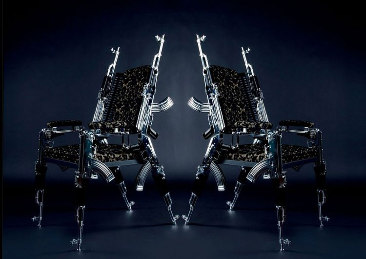 Rainer Weber's AK47 Chair. Pic Courtesy Alexandra Schedl