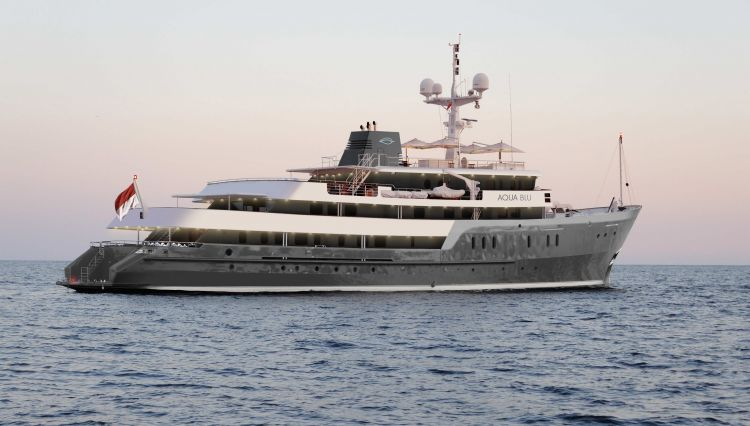 Aqua Blu - the new superyacht and formerly HMS Beagle