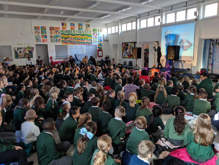 Riva performs for CSE at Attenborough School, Germany