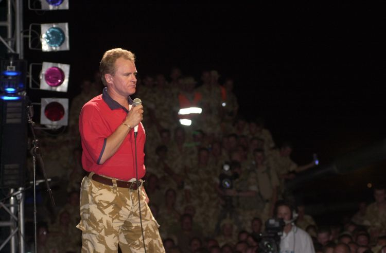 Bobby Davro in Oman with CSE