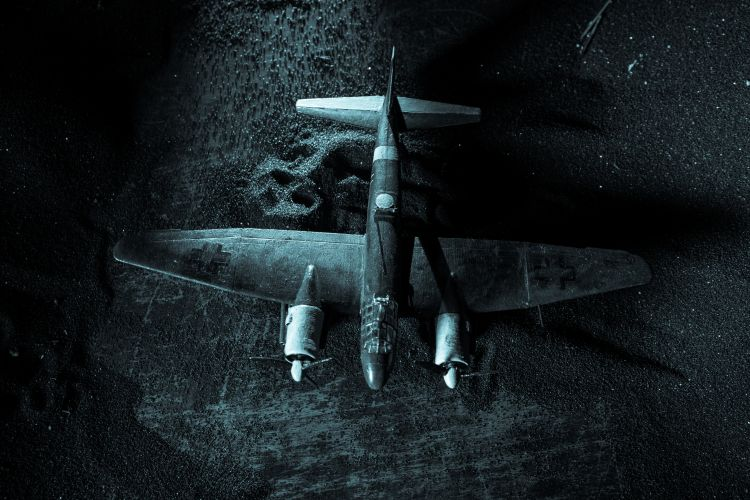 German Junker (Ju-88) night bomber at night By zef art / shutterstock