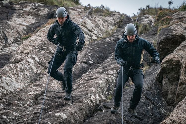 Celebrity SAS Who Dares Wins Episode 3 Cliff Abseil Ollie Ollerton Jay Morton Credit Channel 4