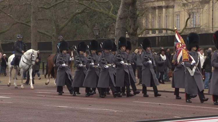 Police Escort At Changing Of The Guard