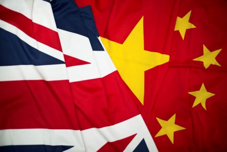 China/UK Flag: Picture Crown Copyright