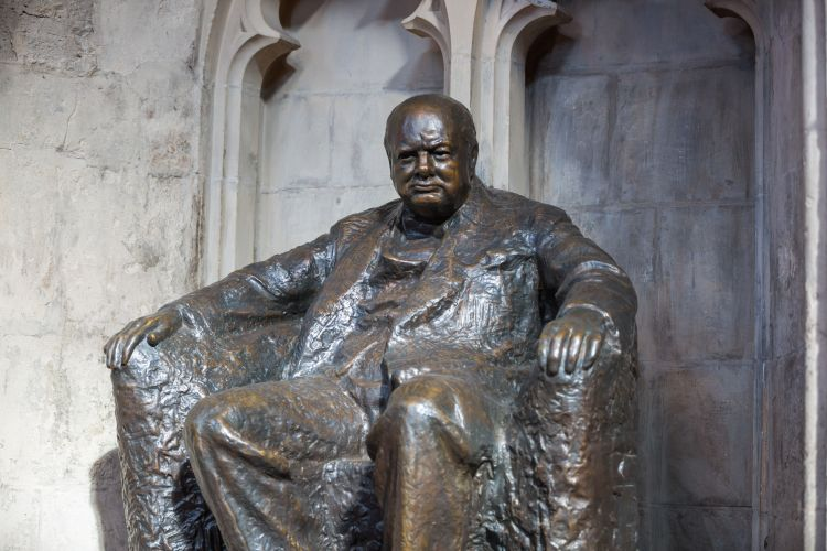 Picture: Winston Churchill statue at the Guildhall Yard by IR Stone / Shutterstock