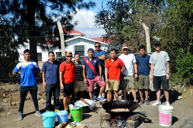 Gurkha Soldiers BATUK Kenya orphanage British Army cooking