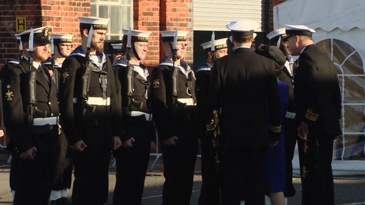 HMS Severn crew decommission