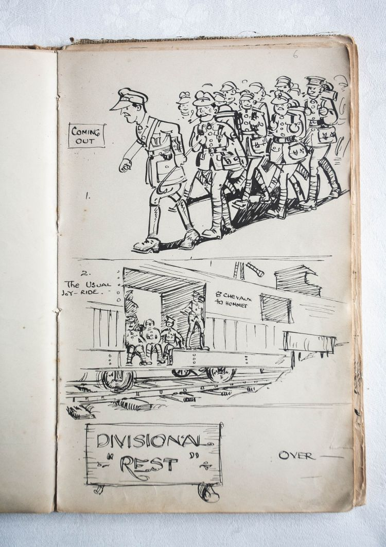 Satirical Drawings By Wwi Soldiers Show Unexpected Side Of War Trenches Ww1 Diagram I Found Out That Were Trench Sketches 200818