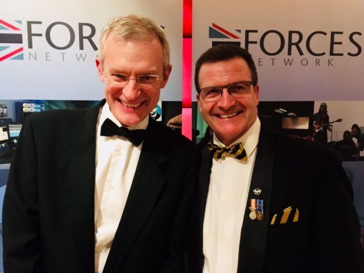 Jeremy Vine and Gulf War RAF airman John Nicol at the event