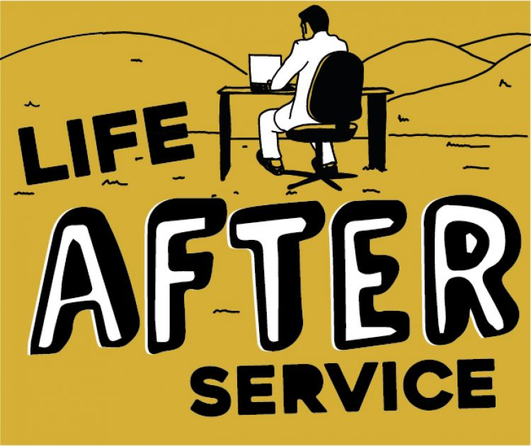 Life after service graphic