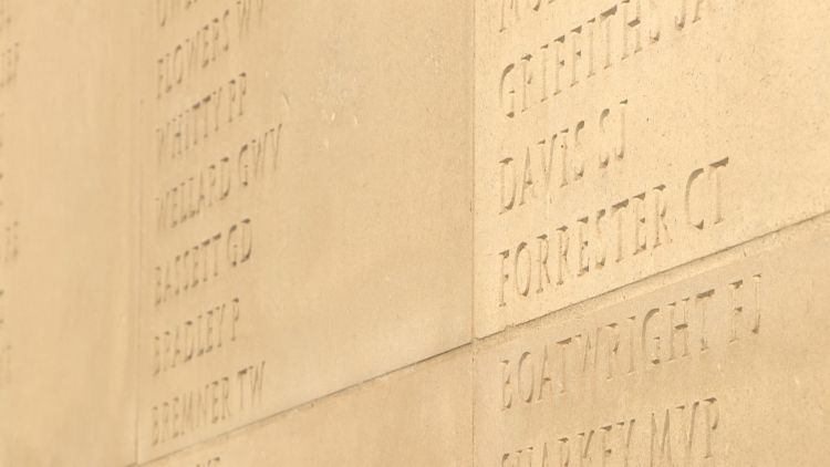 some of the names of the fallen at nma 111119 CREDIT BFBS.jpg