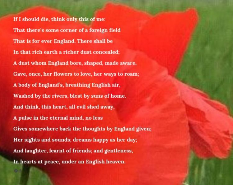 The Soldier Poem graphic. BFBS.