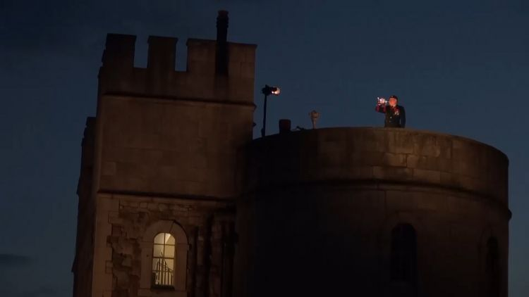 As the sky darkened over the Tower of London, a bugler played The Last Post heralding a new installation for Remembrance.