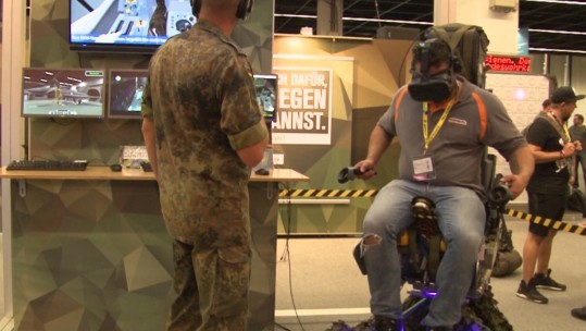 VR is being used as a tool to get gamers interested in the German armed forces.