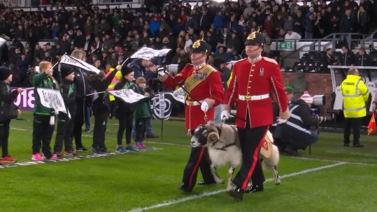 The Army Ram Leading Derby FC Out The Tunnel