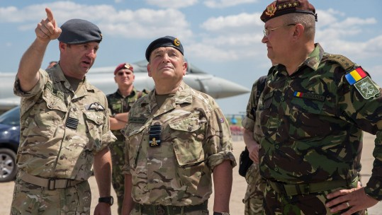 The Chief of the Defence Staff visits Romania