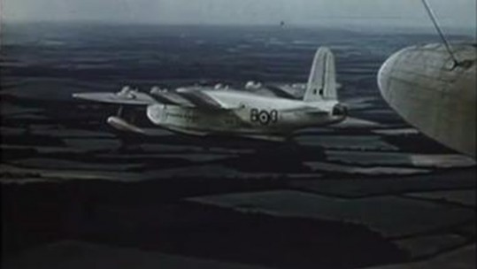 Sunderland Flying Boat During 1953 RAF Royal Review