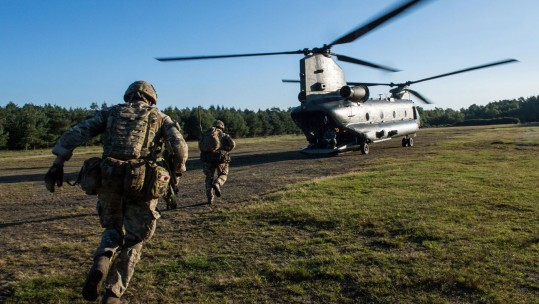 British Paras on exercise