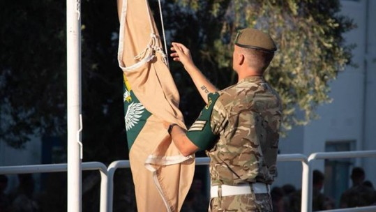 2 Mercian's Arrival In Cyprus Formally Marked