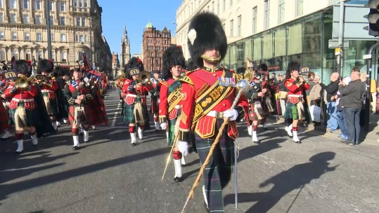 2 SCOTS's final homecoming parade took place in Scotland's largest city.