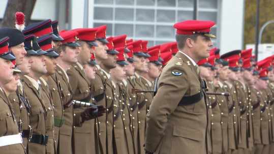 20th Armoured Infantry Brigade Remembrance Service